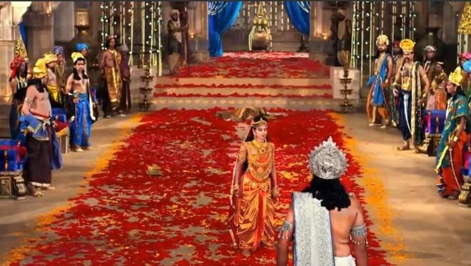 Кадра Махабхарата Амба и Бхишма на сваямваре