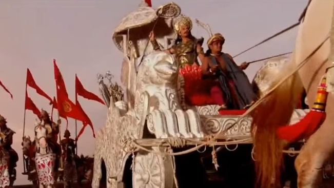 Царь Шантану на колеснице