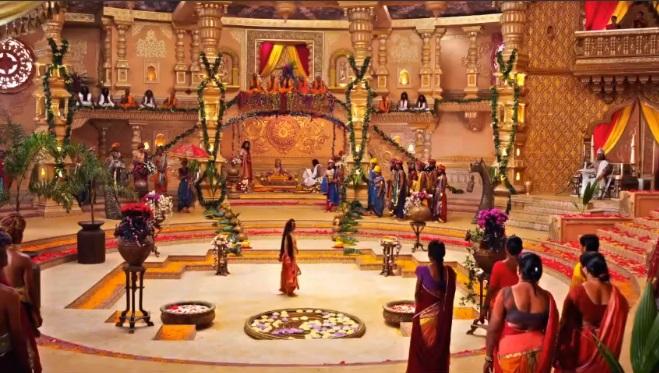 Кадра Махабхарата Амба пришла на свадьбу