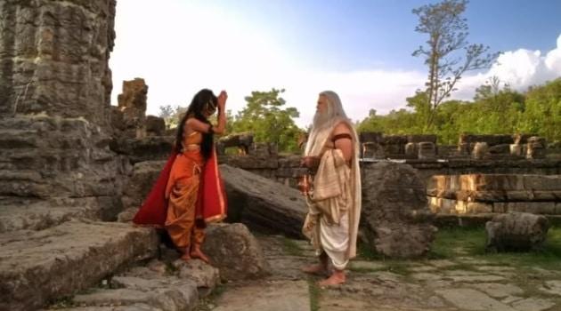 Кадр Махабхарата Принцесса Амба пришла к Парашураме