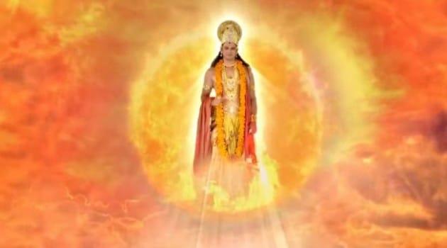 Кадр Махабхарата Бог солнца Сурья