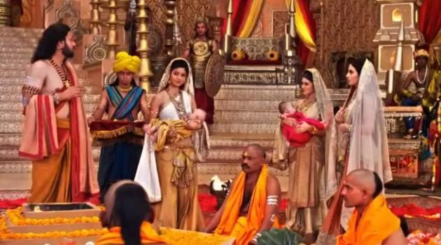 Кадр Махабхарата 6 серия Наречение принцев