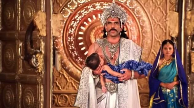 Кадр Махабхарата 6 серия Бхишма с младенцем