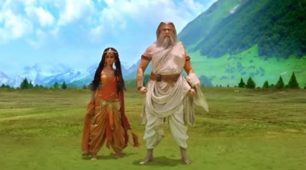 Кадр Махабхарата Амба и Господь Парашурама