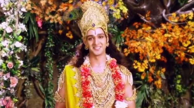 Кадр Махабхарата Кришна дает наставление