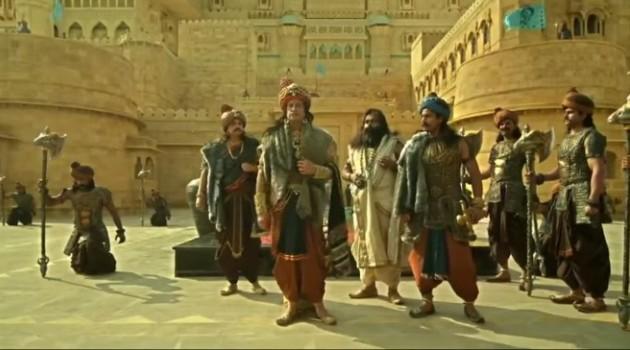 Кадр Махабхарата Царь Субала с генералами