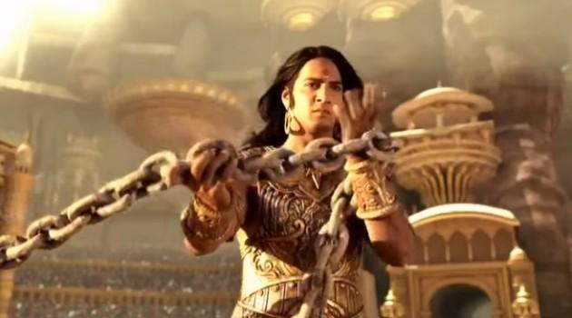 кадр Махабхарата Дхритараштра с цепью