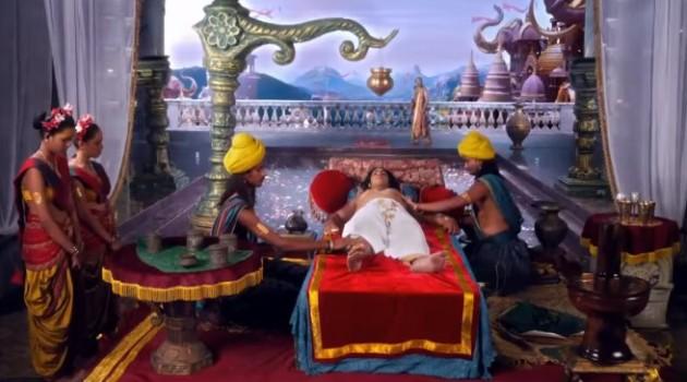 кадр Махабхарата Дхритараштра отдыхает