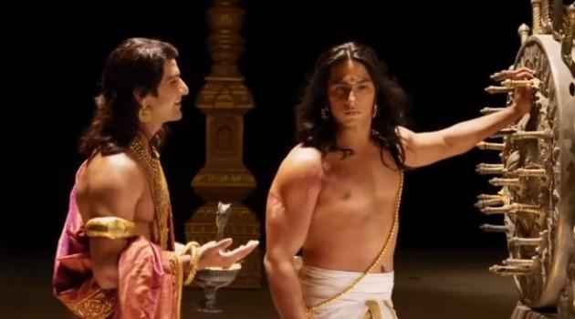 кадр Махабхарата Панду и Дхритараштра