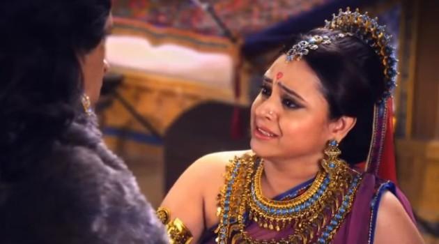 кадр Махабхарата царица не может скрыть слез