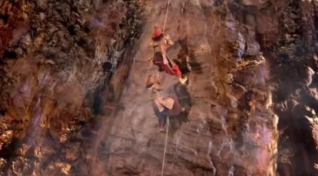 кадр Махабхарата Шакуни на скале