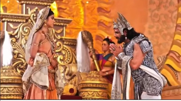 кадр Махабхарата Бхишма просит благословения у Сатьявати