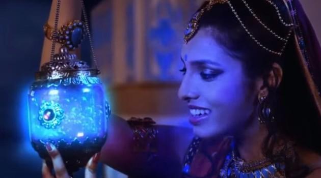 кадр Махабхарата Гандхари и светлячки