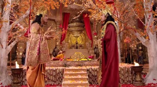 кадр Махабхарата братья в свадебном шатре