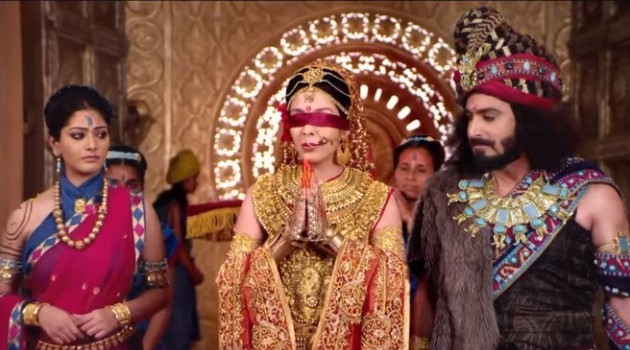 кадр Махабхарата невеста обращается к собранию