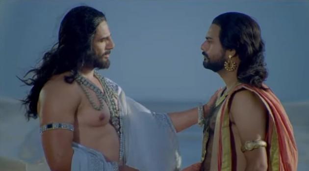 кадр Махабхарата Бхишма и Ведура