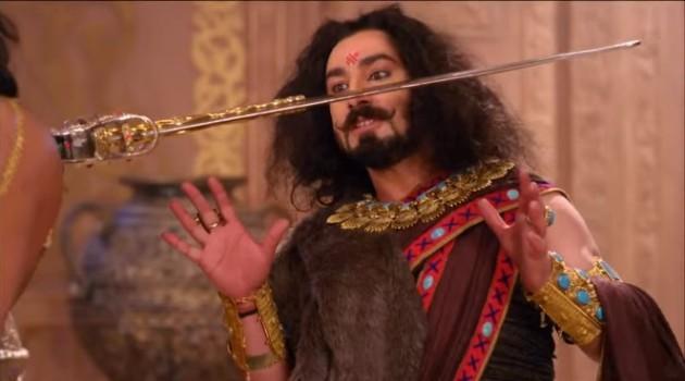 кадр Махабхарата Шакуни и меч Дхритараштры