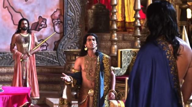 кадр Махабхарата Панду обращается к брату