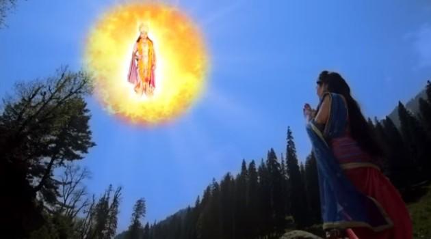 кадр Махабхарата бог солнца явился перед Кунти