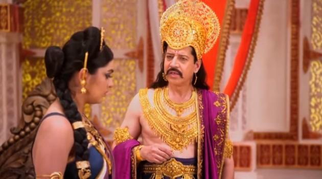 кадр Махабхарата Кунти говорит с отцом