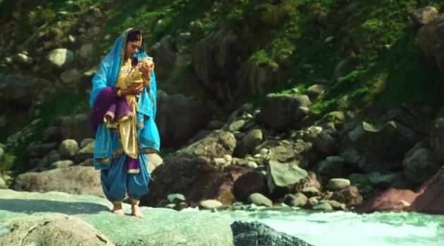 кадр Махабхарата Кунти с сыном