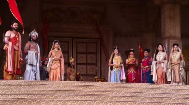 кадр Махабхарата встреча императора