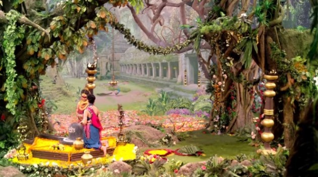 кадр Махабхарата дворцовый храм