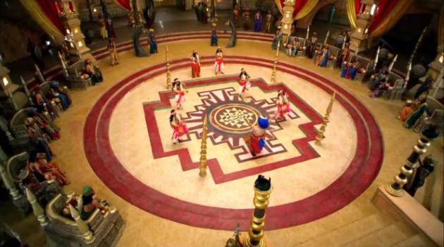 кадр Махабхарата развлечения во дворце